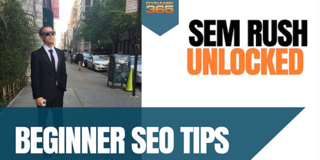 SEM RUSH Demo SEO Tips